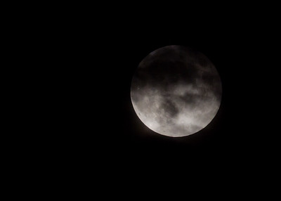Moon with Clouds - October 29, 2012