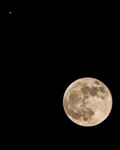 Moon with Jupiter - November 28, 2012