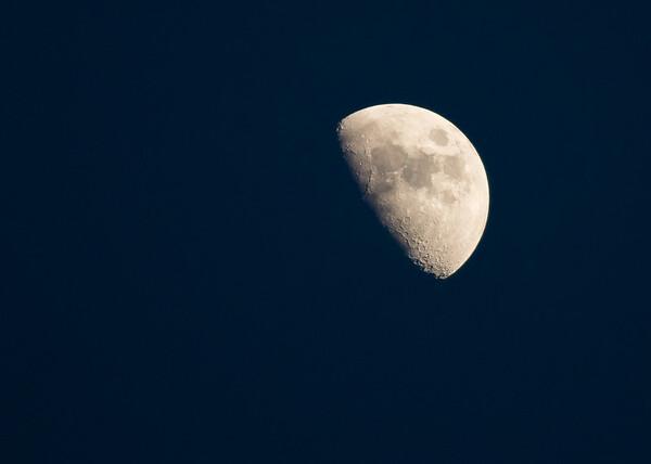 Half Moon over Gallatin - April 4, 2017