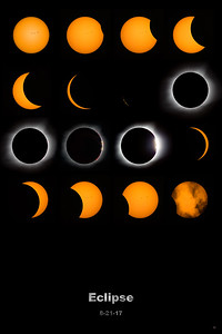 Total Solar Eclipse with Metal Text - sizes 8 x 12, 12 x 18 and 24 x 36 - multiple finishes and wall hangings
