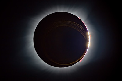 Totality with Flares and Diamond Ring - no Title  with Metal Text - sizes 8 x 12, 12 x 18 and 24 x 36 - multiple finishes and wall hangings