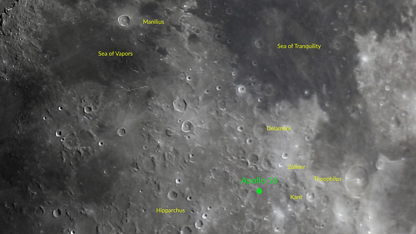 Apollo 16 Landing Site - Descartes - April 20, 1972