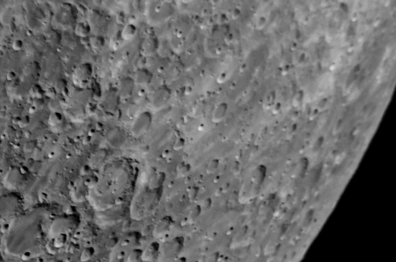 Close Up Lunar Photos - Eyepiece Projection - 1-25-18