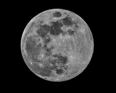 Blue Sap Moon - single image captured on 3-30-18