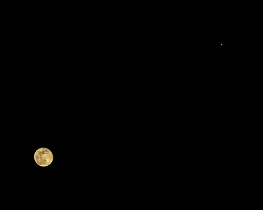 The Moon and Jupiter - April 30, 2018