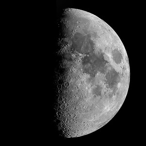 """Lunar Mosaic - 42 images - Celestron AVX 8"""" SCT telescope, ZWO ASI 224 MC imager, captured in SharpCap 3.1 Pro, processed in AutoStakkert, Registax, LR and PS"""