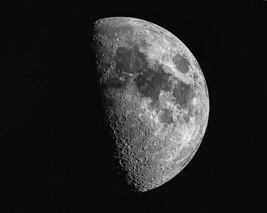 "Waxing Moon - Single Exposure - Celestron AVX 8"" SCT, Canon EOS 6D Full Frame"