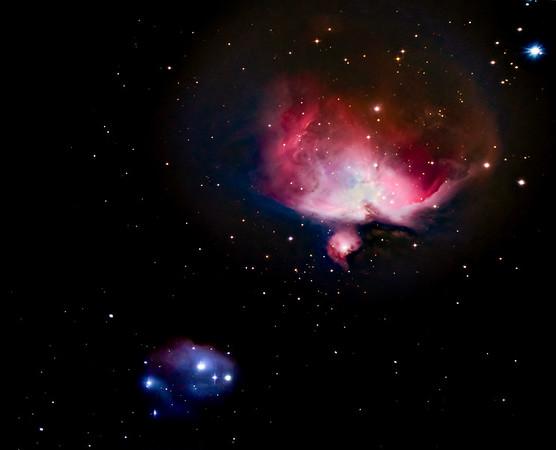 M42 Orion Nebula and Sh2-279 Running Man Nebula