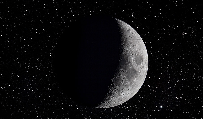 Moon on Star Field - 10-22-20