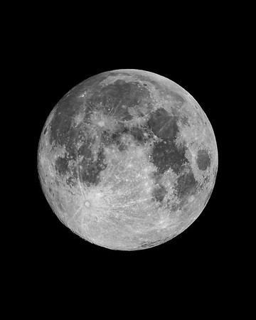 Blue Sap Moon 3-30-18 - Stacked and Oriented toward true lunar north on 3-31-18