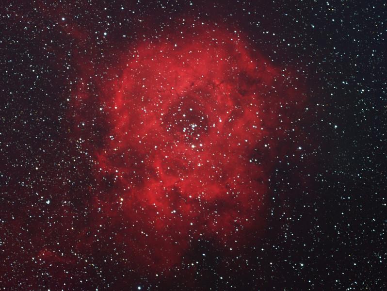 NGC 2237 (Rosette nebula) in H-alphaRGB