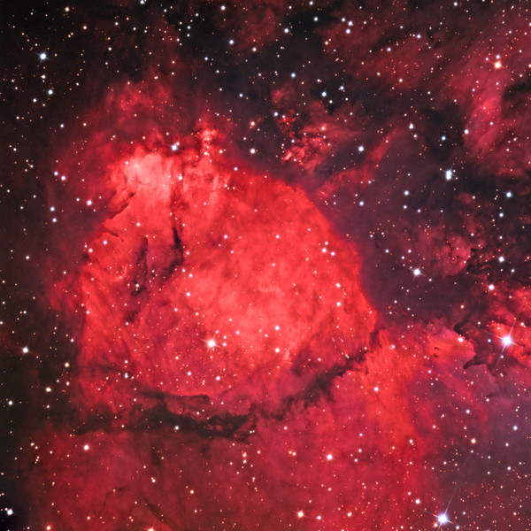 NGC 896 emission nebula, a part of the Heart Nebula.   32 inch Schulman telescope with STX camera on Mt. Lemmon, AZ.  Data capture and reduction by Adam Block, University of Arizona.  LRGB processing by JDS using CCDStack and Photoshop CC.