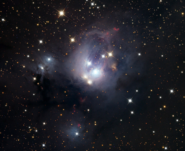 NGC 7129 complex nebula.  Schulman telescope on Mt. Lemmon, AZ. Data capture by Adam Block, University of Arizona. Processing by JDS using CCDStack and Photoshop CS5.
