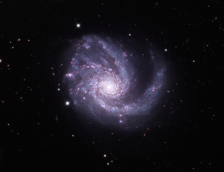 Messier 99 spiral galaxy, also called NGC 4254.  32 inch Schulman telescope with STX camera on Mt. Lemmon, AZ.  Data capture and reduction by Adam Block, University of Arizona.  LRGB processing by JDS using CCDStack and Photoshop CS5.