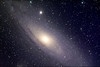Messier 31 Andromeda galaxy, with smaller elliptical galaxy Messer 32.  In remembrance of Constance C. Smith.