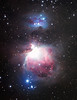 Messier 42, Great Orion nebula, and NGC 1977 nebula (top)
