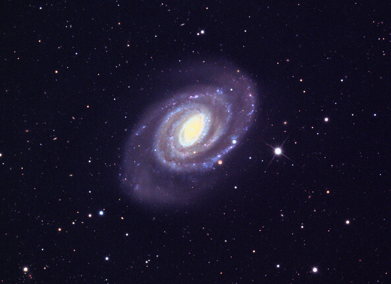 NGC 5364 spiral galaxy, Schulman Foundation 24 inch telescope on Mt. Lemmon, gray scale frames by Adam Block, processing by JDS.