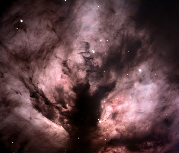 Center of the Flame Nebula, NGC2024 in Orion.  32 inch Schulman telescope on Mt. Lemmon, AZ using STL-11000M camera.  Original data frames by Adam Block, processing by JDS.  LRGB image processed with Maxim DL and Photoshop CS2.