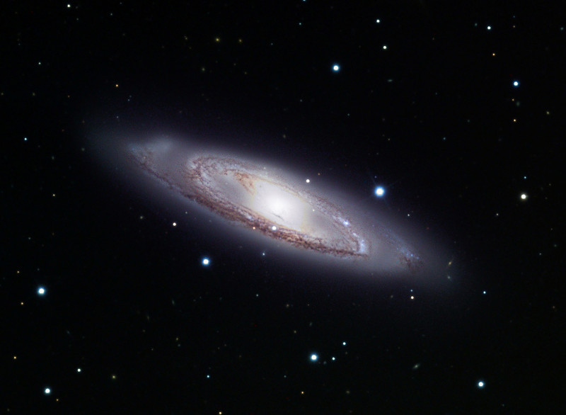 Messier 65, spiral galaxy.  Schulman Foundation 24 inch telescope on Mt. Lemmon, AZ, using SBIG STL-11000M camera.  Data frames by Adam Block.  LLRGB processing using Maxim DL, Digital Development, and Photoshop CS2 by JDS.