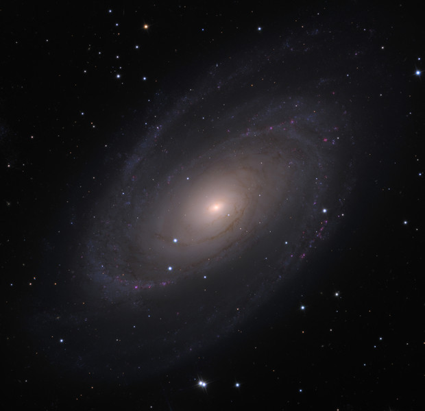 Messier 81 (M81) spiral galaxy.  32 inch Schulman telescope with STX camera on Mt. Lemmon, AZ.  Data capture and reduction by Adam Block, University of Arizona.  LRGB processing by JDS using CCDStack and Photoshop CS5.