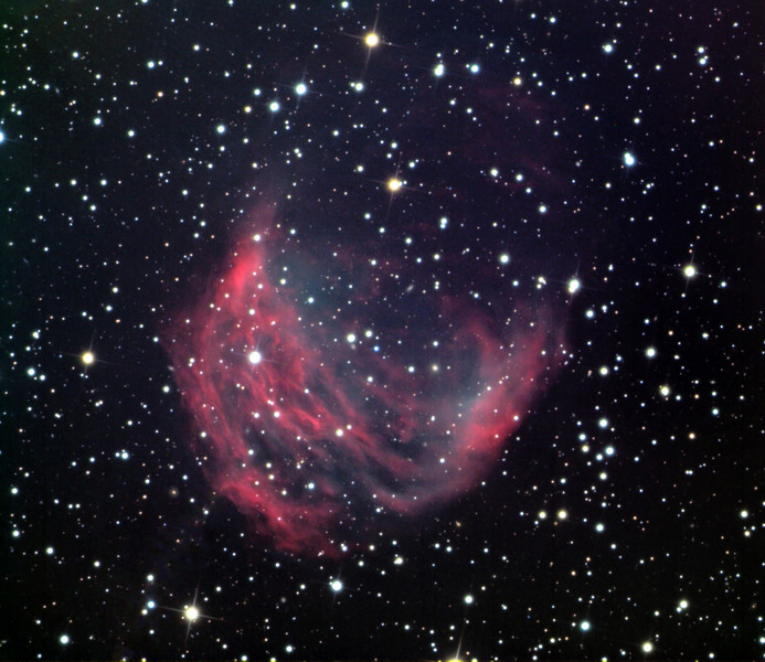Medusa Nebula (Abell 21), a planetary nebula.  Schulman Foundation 24 inch telescope on Mt. Lemmon, AZ, using SBIG STL-11000M camera.  Data frames by Adam Block.  LLRGB processing using Maxim DL, CCDSharp, and Photoshop CS2 by JDS.