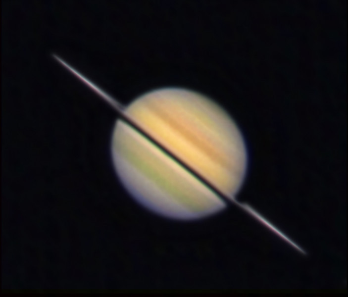 Saturn, Schulman Foundation 24 inch telescope on Mt. Lemmon, image capture and processing by Adam Block, University of Arizona.