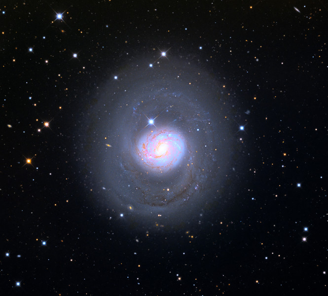 Messier 77 (M77) spiral galaxy.   32 inch Schulman telescope with STX camera on Mt. Lemmon, AZ.  Data capture and reduction by Adam Block, University of Arizona.  L(synthetic)RGB processing by JDS using CCDStack, Photoshop CC, and Noise Ninja.  Exposure time 24 hours.