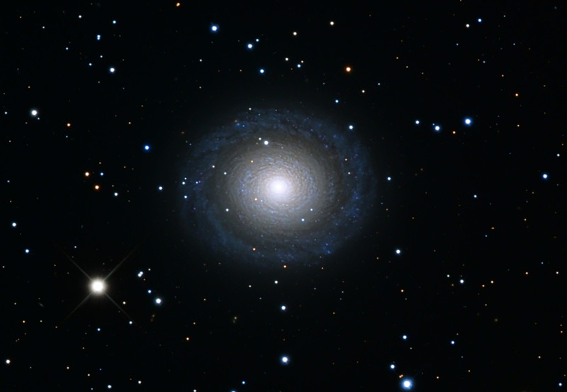 NGC 7217 galaxy.  Schulman Foundation 24 inch telescope on Mt. Lemmon, AZ, using SBIG STL-11000M camera.  Data frames by Adam Block.  LLRGB processing using Maxim DL, CCDSharp, and Photoshop CS3 by JDS.  In honor of the late Dean A. Mitchell.