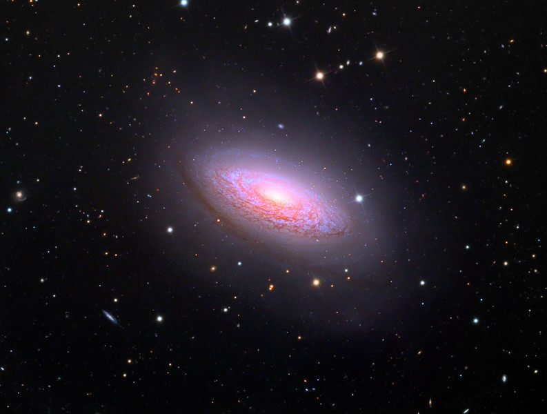 NGC3675, spiral galaxy.   32 inch Schulman telescope with STX camera on Mt. Lemmon, AZ.  Data capture and reduction by Adam Block, University of Arizona.  LRGB processing by JDS using CCDStack, Photoshop CS6, and Noise Ninja.