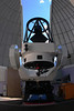 32 inch Schulman Foundation telescope (generally known as the Schulman Telescope) on Mt. Lemmon with dome open, prepared for visual observing, on September 18, 2010.  The precise polar alignment, final testing to conform to specificatons. and other steps needed for astrophotography including installation of the camera were subsequently performed. Computer and monitor to control telescope during astrophotography, and internet connectivity have also been  put in place permitting worldwide access by amateurs and professionals.  This 32 inch telescope replaced the 24 inch R-C used to obtain the raw frames processed into some of the images on this web site.