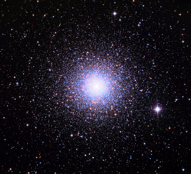 M15, Messier 15, globular star cluster. Schulman telescope 32 inch with STX camera on Mt. Lemmon, AZ.  Data capture and reduction by Adam Block, University of Arizona.  L(synthetic)RGB processing by JDS using CCDStack and Photoshop CC.