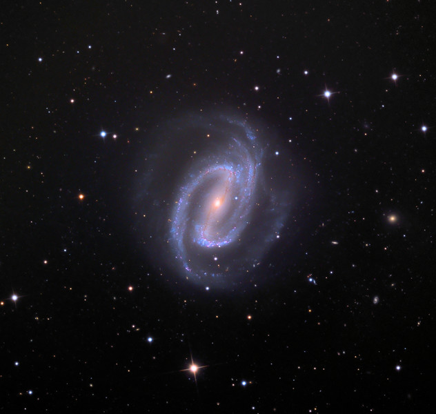 NGC1300, spiral galaxy.  32 inch Schulman telescope with STX camera on Mt. Lemmon, AZ.  Data capture and reduction by Adam Block, University of Arizona.  LRGB processing by JDS using CCDStack and Photoshop CS5.  In memory of Miriam G. Schulman and Max Schulman, my parents.