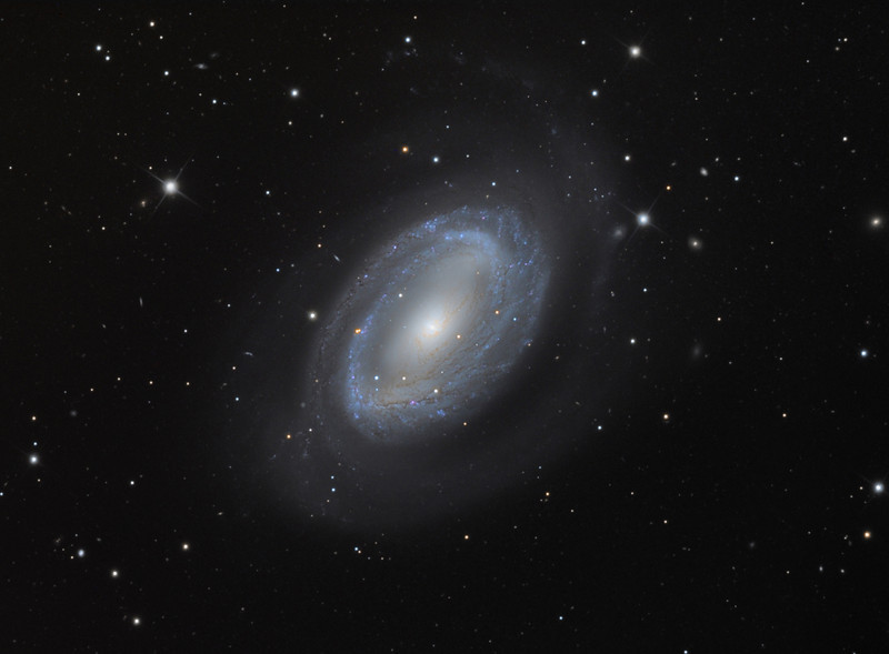 NGC 4725, asymmetrical spiral galaxy.  Schulman Foundation 24 inch telescope on Mt. Lemmon, AZ, using SBIG STL-11000M camera.  Data frames by Adam Block.  LLRGB processing using Maxim DL, Digital Development, and Photoshop CS3 by JDS.