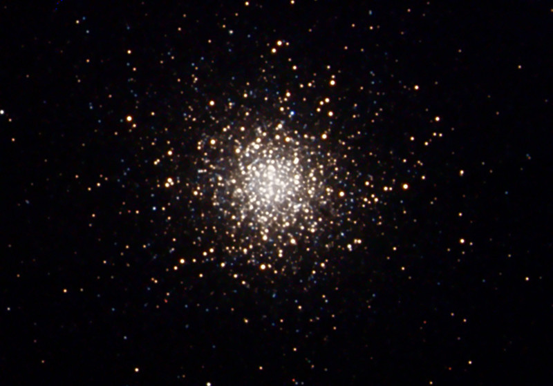 Messier 13 Hercules globular star cluster imaged from Palm Springs, CA