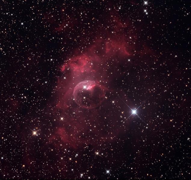 NGC 7635, Bubble Nebula.  32 inch Schulman telescope with STX camera on Mt. Lemmon, AZ. Data capture by Adam Block, University of Arizona. Processing by JDS using CCDStack and Photoshop CS5.