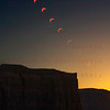 Multi image of the Annular Eclipse May 20, 2012 from Monument Valley Arizona