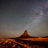 Milky-Way over a Butte in Monument Valley May 20, 2012
