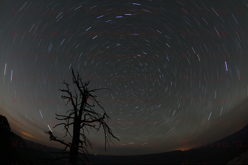 Star-triail over Grand Canyon May 21, 2012