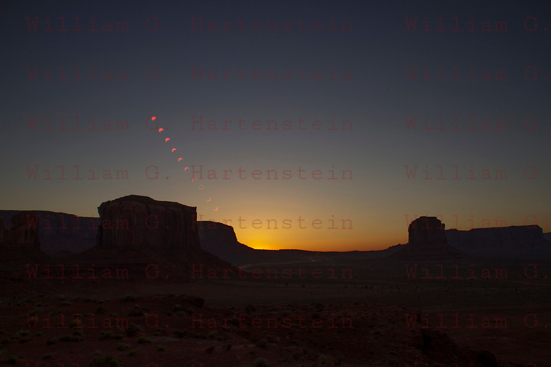 Multi images of the Annular Eclipse from Monument Valley, Arizona May 20, 2012
