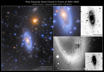 A Micro Dust Cloud Superimposed on NGC 3269