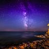 17/08/2014 – 00:02 La Via Lattea (Milky Way) sul Mar Ligure vista da Portobello nella Baia di Levante, Sestri Levante. Golfo del Tigullio, Riviera Ligure di Levante, Genoa Italy