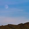 17/09/2013 – 18:49 Luna crescente (92.1%) sopra il Santuario di S. Rocco. Sestri Levante, Liguria, Genoa Italy