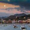 18/09/2013 – 19:29 Luna crescente 97.2%  sopra Sestri Levante, Liguria, Genoa Italy