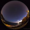 06/11/2013 – 19:13  La Luna e Venere al crepuscolo dalla Baia di Levante, Sestri Levante. Liguria, Genoa Italy