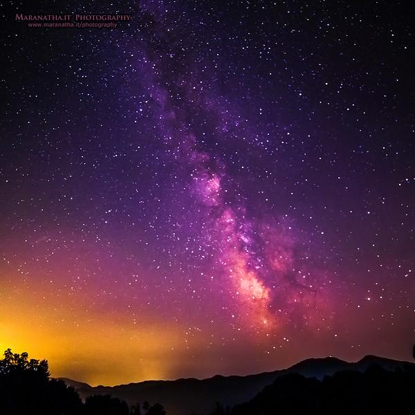 28/08/2014 – 21:56 La Via Lattea vista dagli Appennini, entroterra di  Sestri Levante, Golfo del Tigullio, Riviera Ligure di Levante, Genoa Italy