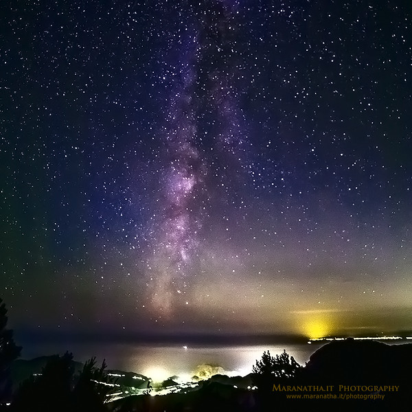 The Milky Way from Bocco di Bargone  m. 881  24 Oct 2014  20:44 - Ligurian Sea and the Apennine Mountains, hinterland of Sestri Levante, Genoa Italy