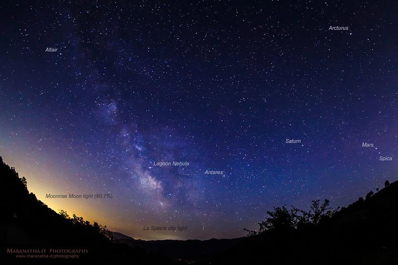 15/07/2014 – 22:41 Milky Way Galaxy - Appennini Liguri, entroterra di Sestri Levante. Riviera Ligure di Levante, Genoa Italy