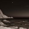 29/11/2013 – 17:55 Lo scoglio dell'Asseu al crepuscolo in compagnia di Venere. Golfo di Riva Trigoso, Sestri Levante, Genoa Italy