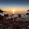 29/11/2013 – 16:36 Tramonto allo scoglio Asseu nel Golfo di Riva Trigoso, Sestri Levante, Genoa Italy
