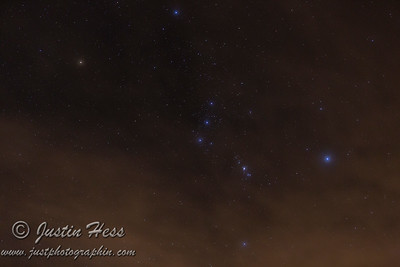 Orion Through Clouds